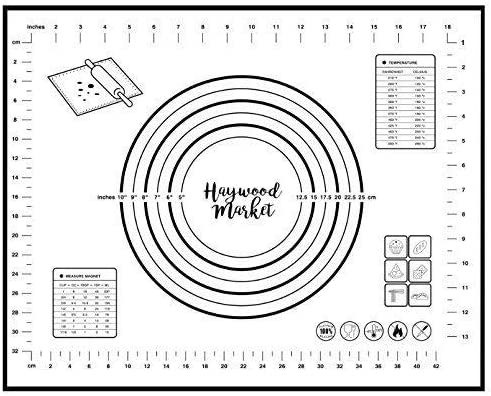 Haywood Market Max 62% OFF Large Premium Silicone with Measuremen Factory outlet Mat Baking