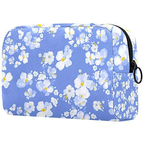 Trousse de toilette pour femme Motif floral Blanc/violet