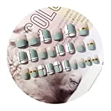 chenpaif Cute 24 Unids/Set Cubierta Completa Consejos de Arte de Uñas Postizas Herramientas Uñas Cortas DIY Manicura
