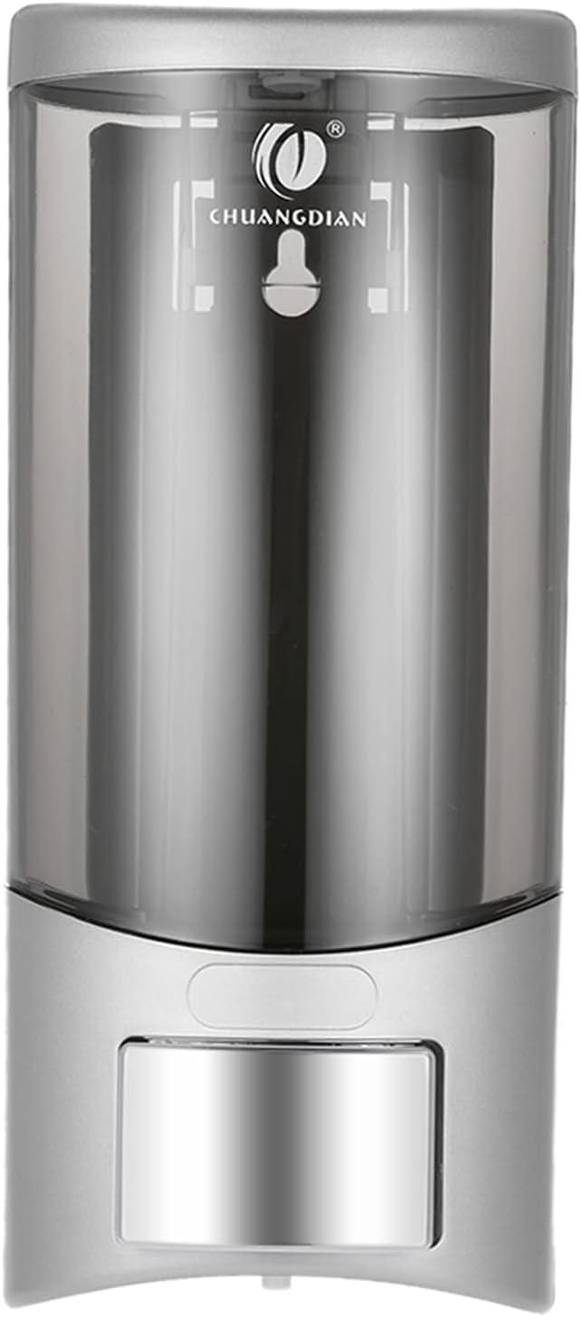 Dispensador jabon baño, 500 ml dispensador de jabón Caja de Resto Aseo Mano champú líquido de Lavado Gel de Ducha Máquina Alimentador del jabón líquido dispensador de jabón