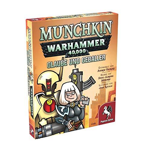 Pegasus Spiele 17016G - Munchkin Warhammer 40.000: Glaube und Geballer