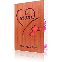 Wooden Mother's day card