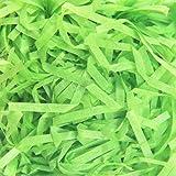 Lausatek Rafia Virutas Papel 200g, Reciclable Papel Triturado para Regalo Embalaje Rellenos de Canasta Ropa de Cama para Mascotas (Verde Hierba Oscura)