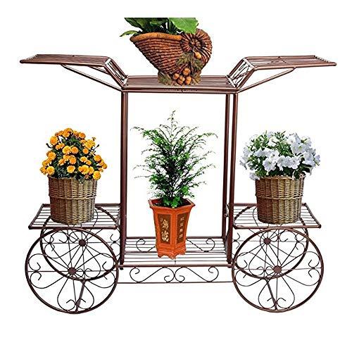 Stand-Blumentopf Rack Metall Blumenwagen Rack Display Garten Baum Home Decor Patio Pflanze Ständer Halter Multi-Tier Pflanzer Stand Regal (Farbe: Antikes Kupfer, Größe: One Size)