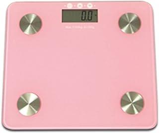 体重・体組成計 体重/体脂肪率/体水分率/推定骨量/基礎代謝量/筋肉量/肥満度 健康管理 肥満の予防 10人登録 強化ガラス ピンク