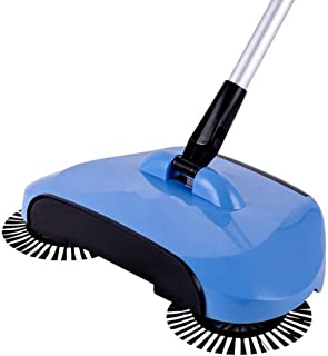 Dust Brooms Fabal New Arrival 360 Rotary Home Use Magic Manual Telescopic Floor Dust Sweeper Automatic Brooms (Blue)