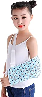 Medical Arm Sling Brace Breathable Shoulder Immobilizer Fractured Stabilizer for Injury Broken Arm Recovery, for Kids Use (M)