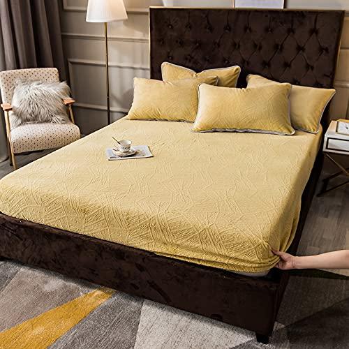 HAIBA Comfy Night - Juego de sábanas de franela de doble tamaño, sábana encimera, juego de sábanas, 150 x 200 cm + 25 cm