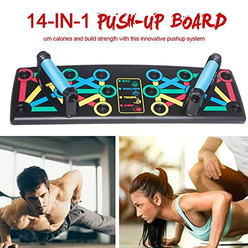 rosemaryrose Total Abs Push Up Push Up Muscle Board -14-in-1-Push-up-Unterstützung Fitnessgeräte Multifunktions-Push-up-Ständer Fitness-Training-Tools Für Fitness-Studio Bodybuilding Workout Train
