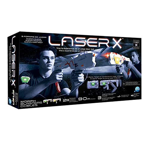Laser X- Pistola láser Doble 2019, Color Set, única (Cife Spain 41938)