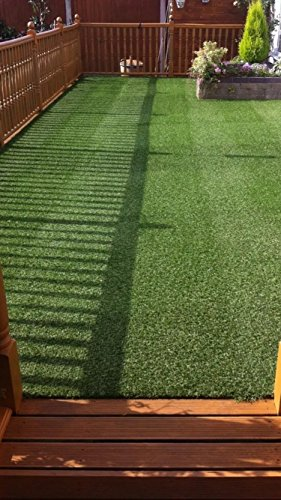 2 tone artificial grass - astro turf - roll end - fab 4 decking etc - 25 mm by Westmorland