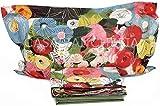 Mirabello Completo Lenzuola da Una Piazza e Mezza in fine Percalle di Cotone, Effetto copriletto con Doppia Balza Art. Fiori di Klimt