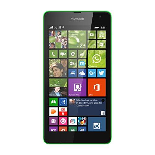Microsoft Lumia 535 Smartphone (5 Zoll (12,7 cm) Touch-Bildschirm, 8 GB Speicher, Windows 8.1) grün