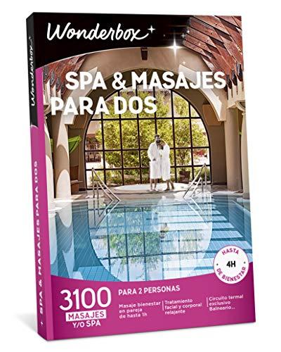 WONDERBOX Caja Regalo para Dos - SPA & MASAJES para Dos - 3.100 experiencias para Dos Personas