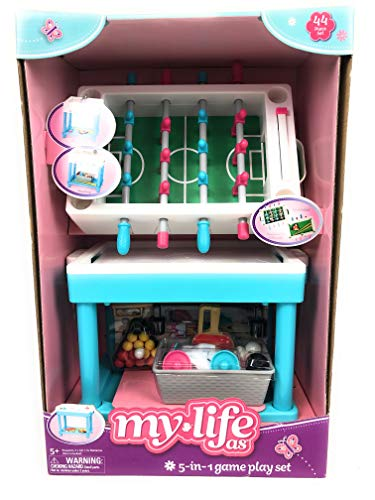 "My Life As 5-in-1 Game Play Set for 18"" Doll, 44 Pieces"