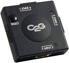 C2G 40734 3-Port HDMI Auto Switch, Black