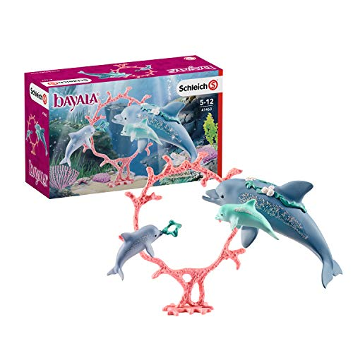 Schleich 41463 bayala Spielset - Delfin-Mama mit Babies, Spielzeug ab 5 Jahren