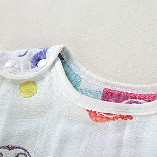 Unisex baby sleeping bag Anti-kick quilt cotton gauze sleeveless air conditioner is summer wear cotton quilt 12-36 months Baby Swaddle Baby blanket Children's sleeping bag