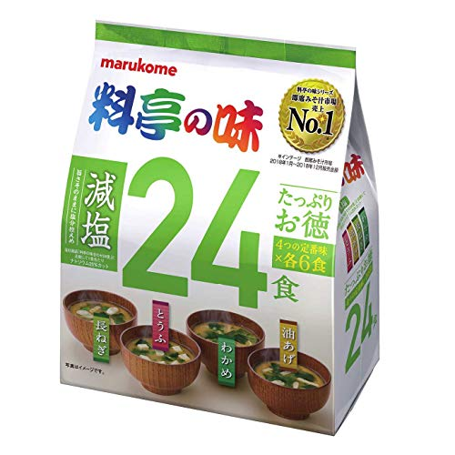 スマートマットライト マルコメ たっぷりお徳料亭の味 減塩 即席味噌汁 24食×6袋