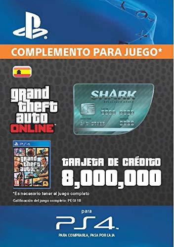 Grand Theft Auto Online - GTA V Cash Card | 8,000,000 GTA-Dollars | Código de descarga PS4 - Cuenta Española