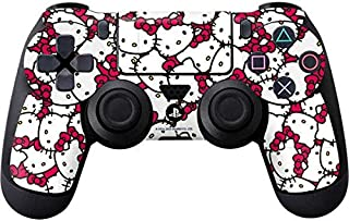Skinit Decal Gaming Skin for PS4 Controller - Officially Licensed Sanrio Hello Kitty Multiple Bows Pink Design
