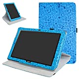Mama Mouth Acer Iconia One 10 B3-A40 Rotating Funda, 360° Rotación PU Cuero con Soporte Funda Caso Case para 10.1' Acer Iconia One 10 B3-A40 Android Tablet,Azul