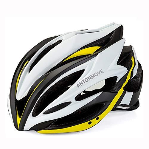 LXJ - Casco de ciclismo para hombre, cómodo, transpirable, para bicicleta de carretera, totalmente moldeado, Hombre, amarillo