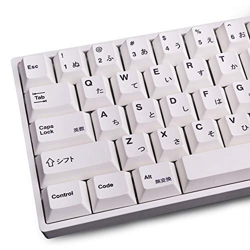 Keycaps PBT 135 Tasten Cherry Profile DYE-Sub Japanische Tastenkappe Minimalistisches weißes Thema geeignet für MX Cherry mechanische Tastatur