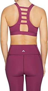 Rockwear Activewear Women's Mi Luxesoft Zip Bra Mulberry 6 From size 4-18 Medium Impact Bras For