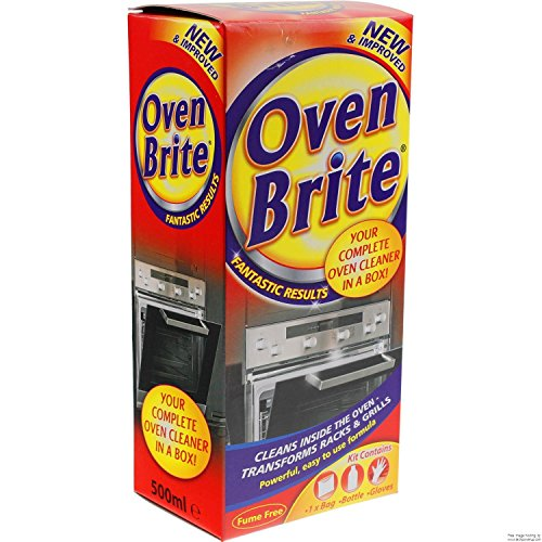 3X Oven Brite - 500ML - Bottle Bag & Gloves Included - Complete Oven...