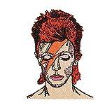 mimosch David Bowie Patch Applikation Bügelbild