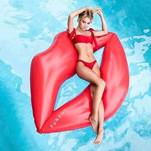 Svvsgf Giochi d\'Acqua per Piscina, drenaggio Galleggiante di Labbra Rosse gonfiabili su Giochi per Adulti Letto Galleggiante Anello di Nuoto Anello Galleggiante Letto Gonfiabile