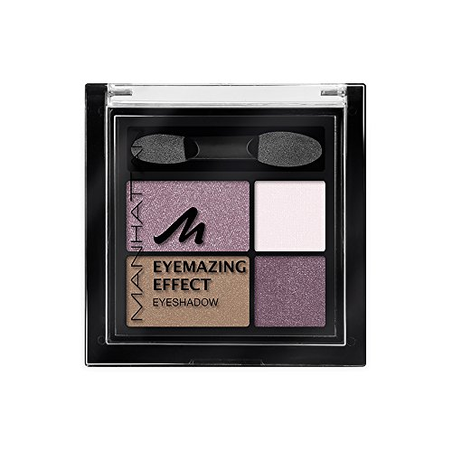Manhattan Eyemazing Effect Eyeshadow – Schmink-Palette aus vier schimmernden Lidschatten-Farben für Smokey Eyes – Farbe Fancy Nudes 60M – 1 x 5g