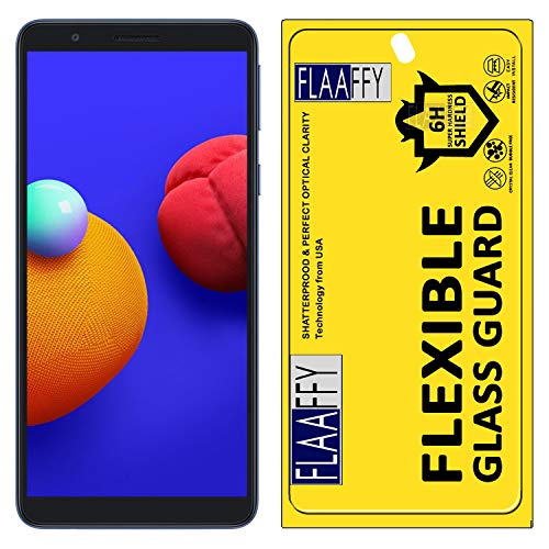 FLAAFFY® Samsung Galaxy M01 Core Flexiable Nano Glass Screen Protector with Unbreakable Nano Film Glass [ Better Than Tempered Glass ] Screen Protector for Samsung Galaxy M01 Core