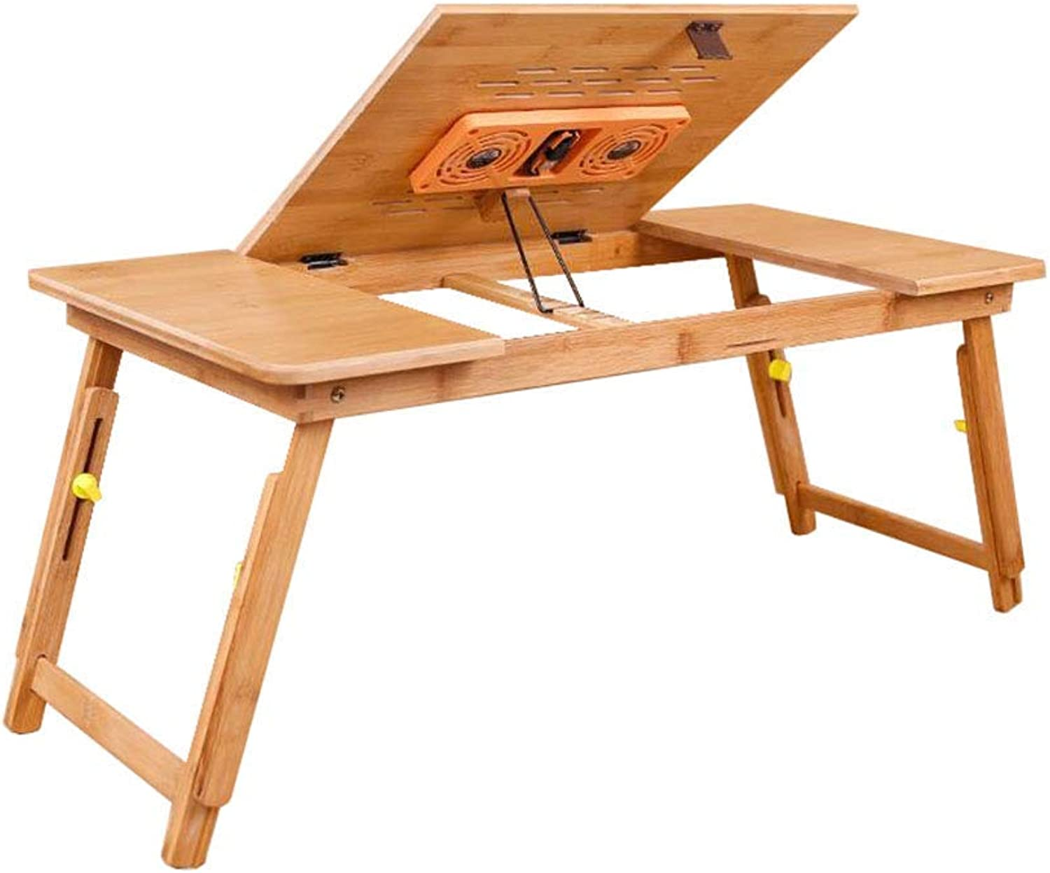 LiTing-Folding Table Bed Desk Dormitory Student Desk Removable Lifting Folding Table Simple Computer Notebook Table (Size  98x35x34cm) (color   with Fan)