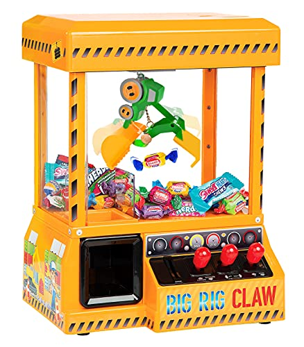 Bundaloo Big Rig Claw Machine Arcade Game - Miniature Candy Grabber for Kids - Electronic Prize Mini Toys Dispenser with Sound - Cool & Fun Party Game for Children (Without Lights)