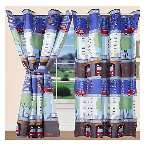 All American Collection Boys/Teens Grommeted Curtain Set| Matching Quilted Bedspread and Pillow Shams Available!