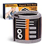Magnetic Wristband,Tools Gifts For Man/Dad/Diy Handyman/Husband/Woodworkers,Tool Organizers For Holding Screws Nails Drill Bits And Small Parts,With Strong Magnets