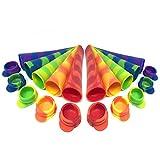 Bramble 10 Moldes de Silicona Helados con Tapa, Polos de Hielo (80ml) - Sin BPA