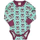 Maxomorra - Body para bebé (Manga Larga, algodón Bio), diseño de Flores...
