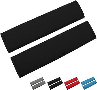 Airzir Seat Belt Cover Pad, 2-Pack Soft Car Seat Belt Shoulder Pad Cover for Adults and Kids, Suitable for Car Seat Belt, Backpack, Laptop Bag, Shoulder Bag, A Must Have for Your Car (Black)