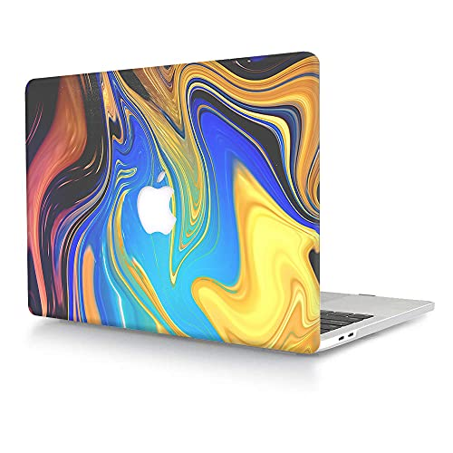 ACJYX Compatible with Old Version MacBook Air 13 Case (2017-2010 Version,Model A1466 & A1369),Plastic Hard Shell Snap on Case Cover for MacBook Air 13.3 inch - Coloured Wave