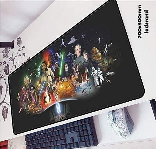 Star Wars juego alfombrilla de ratón de gran tamaño teclado extendido ratón alfombrilla antideslizante juego Mousepad 700x300x3mm de Ministerio del Interior PC de escritorio Tabla alfombrilla de ratón