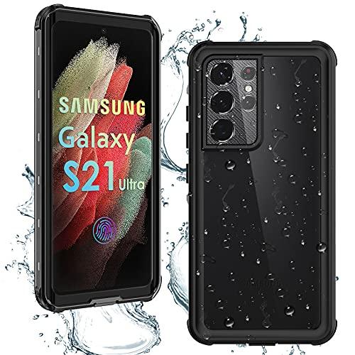 NIYMETOMY für Samsung Galaxy S21 Ultra Hülle mit Integriertem Displayschutz Wasserdicht Staubdicht Sturzsicher Samsung S21 Ultra Handyhülle Ganzkörperversiegelte Schutzhülle für S21 Ultra 6.8 Zoll