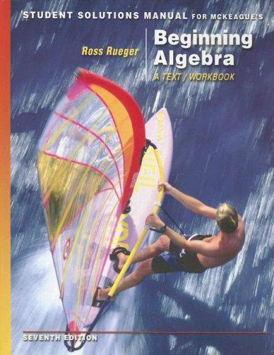 Download McKeague's Beginning Algebra: A Text/Workbook 0495107387
