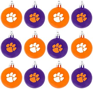 FOCO NCAA Clemson Tigers 12 Pack Ball Hanging Tree Holiday Ornament Set12 Pack Ball Hanging Tree Holiday Ornament Set, Team Color, One Size