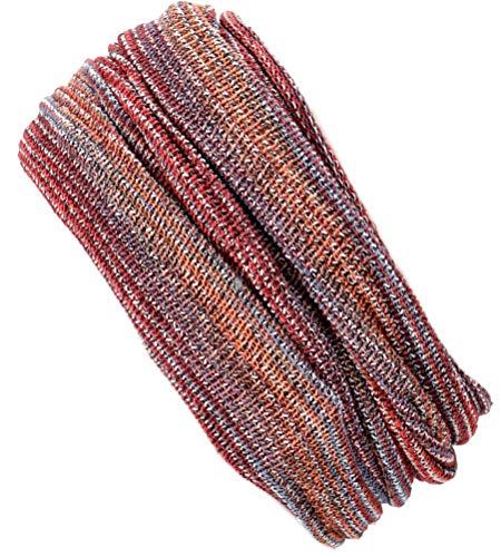 Guru-Shop Magic Hairband, Dread Wrap, Schlauchschal, Stirnband, Mütze, Herren/Damen, Loopschal Rostrot/flieder, Baumwolle, Size:One Size, Stirnbänder Alternative Bekleidung