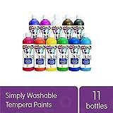 Colorations Simply Washable Tempera Paints, 16 fl oz, Set of 11 Colors, Non Toxic, Vibrant, Bold, Kids Paint, Craft,...