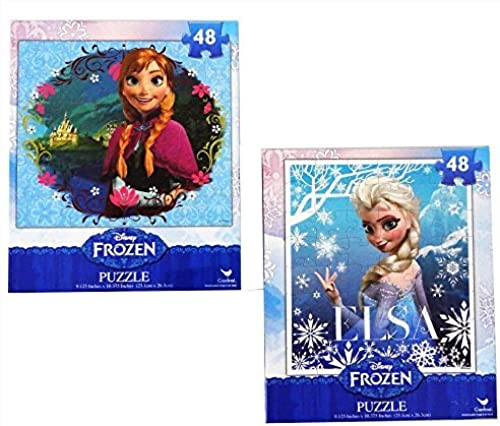 tomar hasta un 70% de descuento Frozen Princesses Princesses Princesses Anna and Elsa 48 Piece Puzzles (Set of 2 Puzzles) by Disney  calidad garantizada