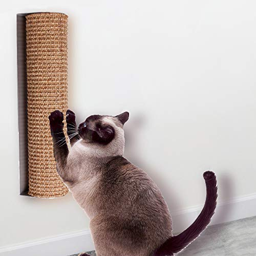 "Diversity world Wall-Mounted Quick Installation or Replaceable Sisal Cat Scratching Post (Aluminum, 15.7""x3.9"")"